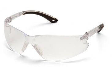 Pyramex Itek Safety Glasses, Clear Frame/Clear Anti-Fog Lens w/ Adjustable Temples S5810STADJ
