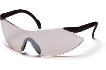 Pyramex Legacy Safety Glasses - Indoor/Outdoor Mirror Lens, Black Temples Frame SB2380S