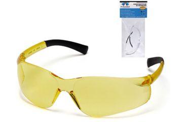 Pyramex Mini Ztek Safety Glasses - Amber Lens, Amber Frame S2530SN7
