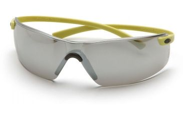 Pyramex Montego Safety Glasses - Silver Mirror Lens, Hi Vis Yellow Frame SY5370S