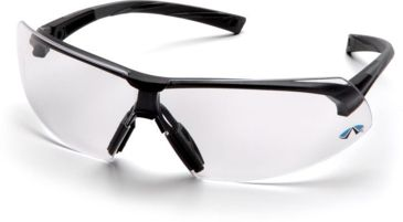 Pyramex Onix Safety Glasses - Clear Lens, Black Frame SB4910S