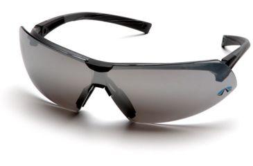 Pyramex Onix Safety Glasses - Silver Mirror Lens, Black Frame SB4970S