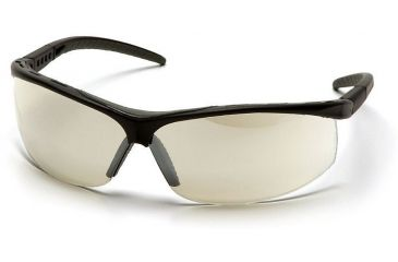 Pyramex Pacifica Safety Glasses - Indoor/Outdoor Mirror Lens, Black Frame SB3480S
