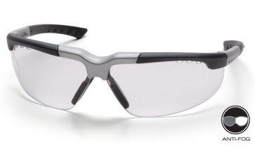 Pyramex Reatta Safety Glasses - Clear Anti-Fog Lens, Black-Silver Frame SBS4810DT