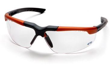 Pyramex Reatta Safety Glasses - Clear Lens, Orange-Charcoal Frame SOC4810D