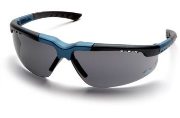Pyramex Reatta Safety Glasses - Gray Lens, Blue-Charcoal Frame SNC4820D