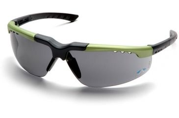 Pyramex Reatta Safety Glasses - Gray Lens, Green-Charcoal Frame SGC4820D