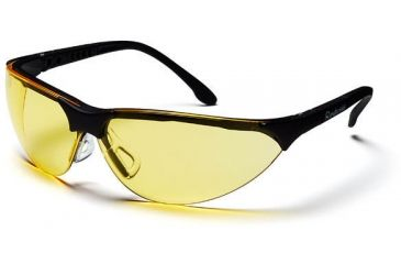 Pyramex Rendezvous Safety Glasses - Amber Lens, Black Frame SB2830S