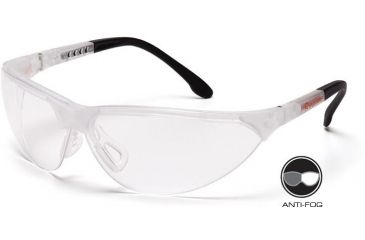 Pyramex Rendezvous Safety Glasses - Clear Anti-Fog Lens, Crystal Clear Frame SCC2810ST