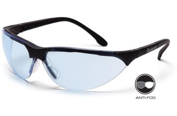 Pyramex Rendezvous Safety Glasses - Infinity Blue Anti-Fog Lens, Black Frame SB2860ST