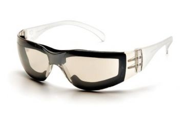 Pyramex Intruder Safety Glasses Pack of 12 - IO Mirror Frame, IO Mirror Anti-Fog Lens S4180STFP