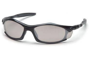 Pyramex Solara Safety Eyewear - Indoor/Outdoor Mirror Lens, Black Frame SB4380D