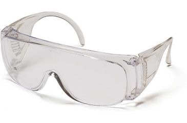 Pyramex Solo Safety Glasses - Clear - Scratch Coated Lens, Clear Frame S510SHC
