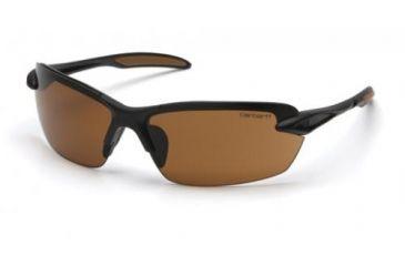 Pyramex Spokane Safety Glasses, Sandstone Bronze Lens w/ Black Frame CHB318D
