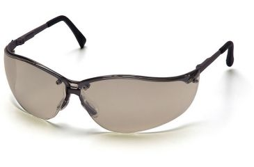 Pyramex V2-Metal Safety Glasses - Indoor/Outdoor Mirror Lens, Gun Metal Frame SGM1880S