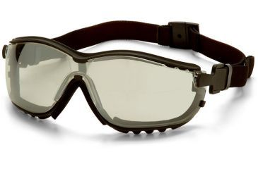 Pyramex V2G Safety Glasses - Indoor/Outdoor Mirror Anti-Fog Lens, Black Frame GB1880ST