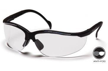 Pyramex Venture II Safety Glasses - Clear Anti-Fog Lens, Black Frame SB1810ST