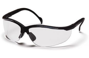 Pyramex Venture II Safety Glasses - Clear Lens, Black Frame SB1810S, 12 Pack