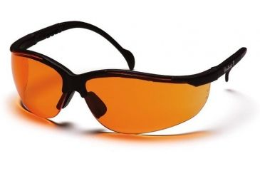 Pyramex Venture II Safety Glasses - Orange Lens, Black Frame SB1840S