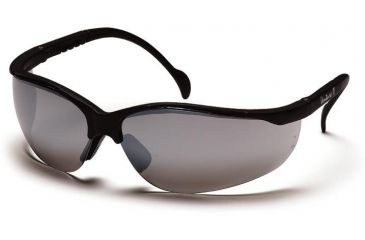 Pyramex Venture II Safety Glasses - Silver Mirror Lens, Black Frame SB1870S