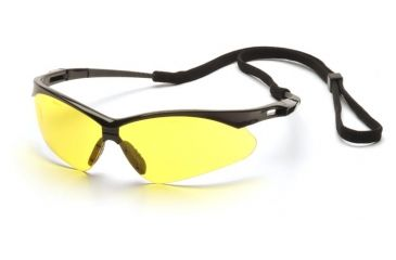 fc40a0a64f1 Pyramex Wildfire Safety Glasses - Black Frame Amber Lens with Black ...