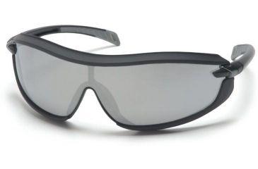 Pyramex XS3 Safety Glasses - Silver Mirror Anti-Fog Lens, Black Frame SB4670ST
