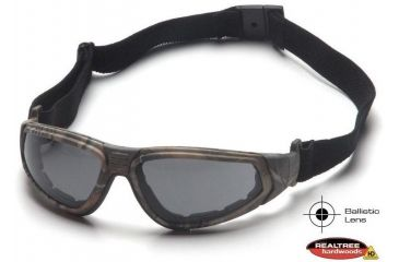 Pyramex XSG Shooting Glasses - Gray Ballistic Anti-Fog Lens, Real Tree HW Frame GC4020BST