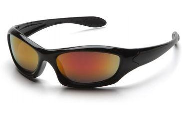 Pyramex Zone 3 Safety Glasses - Sky Red Mirror Lens, Black Frame SB5255D
