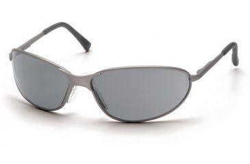 Pyramex Zone II Metal Safety Eyewear - Gray Lens, Gun Metal Frame SGM3320E