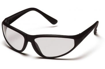 Pyramex Zone Safety Glasses - Clear Lens, Black Frame SB910E