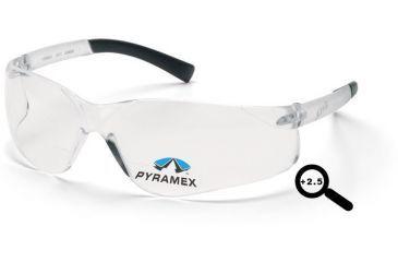 Pyramex Ztek Readers Glasses - Clear + 2.5 Lens, Clear Frame S2510R25