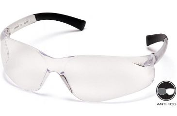 Pyramex Ztek Safety Glasses - Clear Anti -Fog Lens, Clear Frame S2510ST