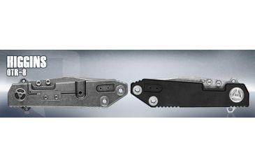 Quartermaster Higgins Folding Knife,3.875in,Tanto Blade,Black G-10 Front Handle QTR8