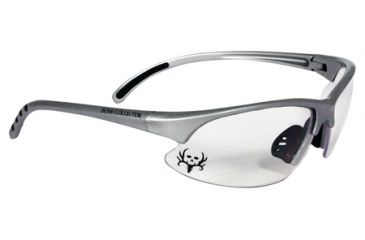 Radians Bone Collector Trigger Youth Shooting Glasses Clear Lens/Silver Frame