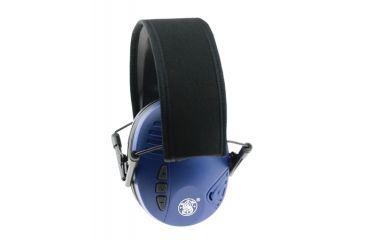 Radians S&W Electronic Earmuffs Blue Earcups With Adjustable Black Headband