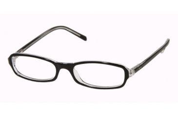 Ralph Lauren RL 6017 Eyeglasses w/ Black - Transparent Frame w/Non-Rx 49 mm Diameter Lenses, 5011-4916