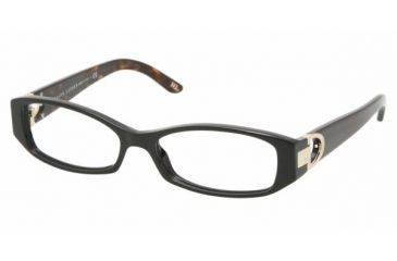 Ralph Lauren RL 6050 Eyeglasses, Black Frame w/Non Rx 52 mm Diameter Lenses, 5001 5215