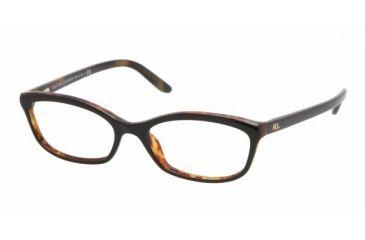Ralph Lauren RL 6060 Eyeglasses w/ Black/Havana Frame and Non-Rx 52 mm Diameter Lenses, 5260-5216