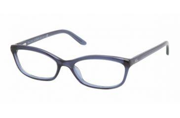 Ralph Lauren RL 6060 Eyeglasses w/ Navy Transparent Frame and Non-Rx 52 mm Diameter Lenses, 5276-5216
