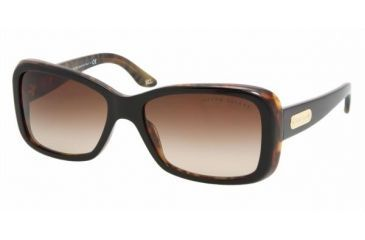 0cdc471df32 Ralph Lauren RL 8066 Sunglasses Styles - Top Black-Havana Brown Gradient  Frame