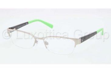 Ralph Lauren RL5078 Single Vision Prescription Eyeglasses 9193-5117 - Matte Silver Frame