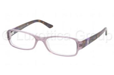 Ralph Lauren RL6075 Single Vision Prescription Eyeglasses 5306-5016 - Top Lilac/Lilac Frame, Demo Lens Lenses