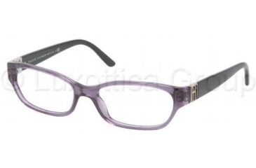 Ralph Lauren RL6081 Single Vision Prescription Eyeglasses 5242-5216 - Transparent Violet Frame