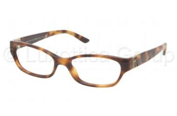 Ralph Lauren RL6081 Single Vision Prescription Eyeglasses 5303-5216 - Havana Frame, Demo Lens Lenses