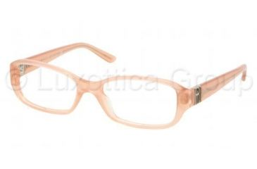 Ralph Lauren RL6085 Single Vision Prescription Eyeglasses 5333-5216 - Milky Peach Frame, Demo Lens Lenses