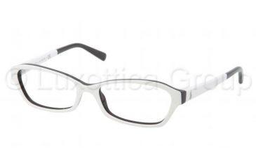 Ralph Lauren RL6097 Progressive Prescription Eyeglasses 5392-5216 - Top White / Black Frame
