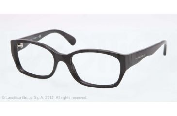 Ralph Lauren RL6098 Single Vision Prescription Eyeglasses 5001-51 - Black Frame, Demo Lens Lenses