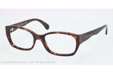 Ralph Lauren RL6098 Single Vision Prescription Eyeglasses 5003-51 - Dark Havana Frame, Demo Lens Lenses