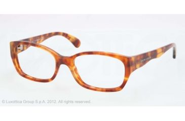 Ralph Lauren RL6098 Single Vision Prescription Eyeglasses 5023-51 - Light Tortoise Effetto Vintage Frame, Demo Lens Lenses