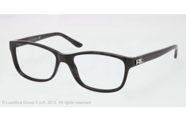 Ralph Lauren RL6101 Progressive Prescription Eyeglasses 5001-52 - Black Frame, Demo Lens Lenses